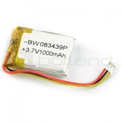 Battery Li-Poly 1000 mAh 3.7 - 3 wires