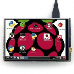 """Touch screen resistive LCD IPS 4"""" 320x240px GPIO for Raspberry Pi 2/B+"""