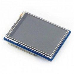 """Rezystnacyjny touch display LCD TFT 2.8"""" 320x240px SPI - Shield for Arduino"""
