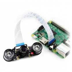 Waveshare Camera HD Night Vision H OV5647 5Mpx - wide angle IR for Raspberry Pi + IR modules