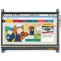"""Touch screen capacitive LCD TFT screen 7"""" 1024x600px HDMI + USB for Raspberry Pi 2/B+"""