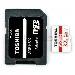Toshiba Exceria micro SD / SDHC 32GB UHS 1 Class 10 memory card with adapter