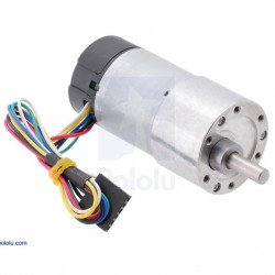 Geared motor 37Dx68L 19:1 + CPR 64 encoder