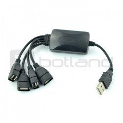 HUB USB 2.0 4-ports - 20cm