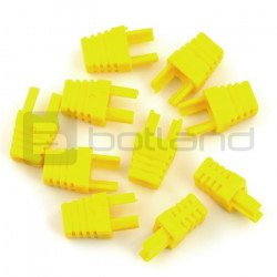 Bend for cable RJ45 8P8C - yellow - 10pcs.