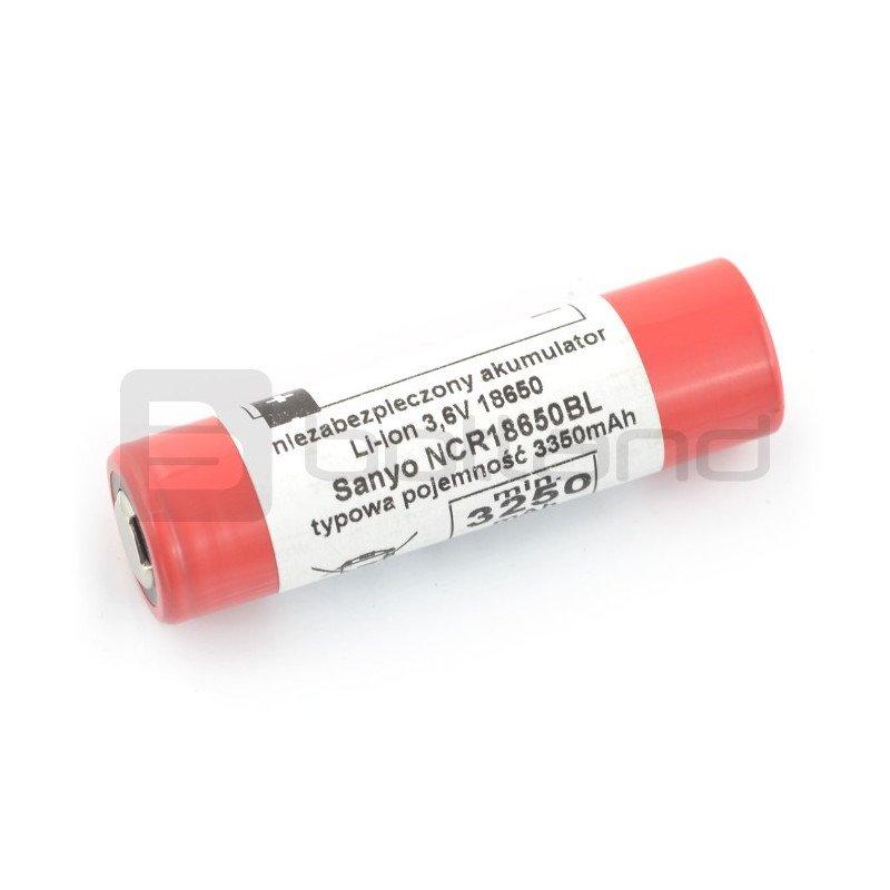 Cell 18650 Li-Ion Sanyo NCR-18650BL 3350mAh