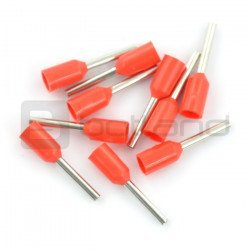 Insulated tube end 1,5/10mm - 10 pieces.