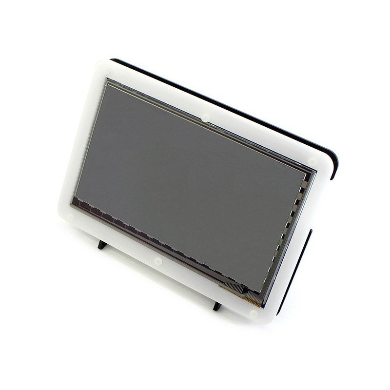 """Enclosure for Raspberry Pi LCD screen TFT 7"""" HDMI black and white"""
