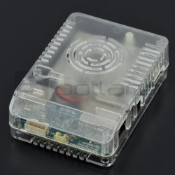 Top housing for Odroid XU4 - top part 1/2 - transparent