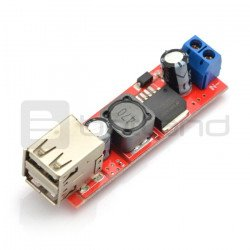 DC 6-40V to 5V 3A double USB charge DC-DC step dowan converter module
