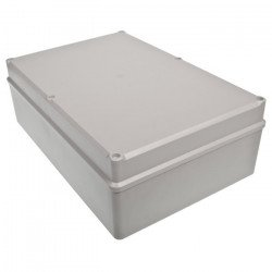 Plastic box Kradex Z95JS ABS with gasket and bushings - 283x193x95mm grey