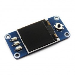 """Waveshare TFT LCD display and 1.3"""" SPI 128x128px - pad with display for Raspberry Pi 3/2/Zero"""