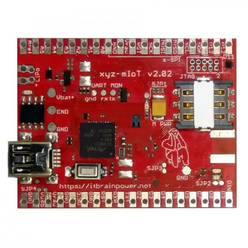 Module xyz-mIOT 2.09 BG95 Quad Band GSM + GPS + HDC2010, DRV5032 - for Arduino and Raspberry Pi