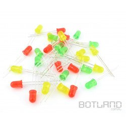 Set of 5mm LEDs and 3mm LEDs - 60 pieces.