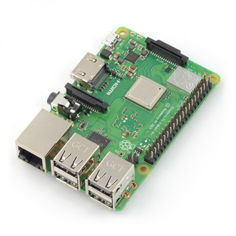 Raspberry Pi 3 model B+ wifi Dual Band, Bluetooth, 1 GB RAM 1.4 GHz