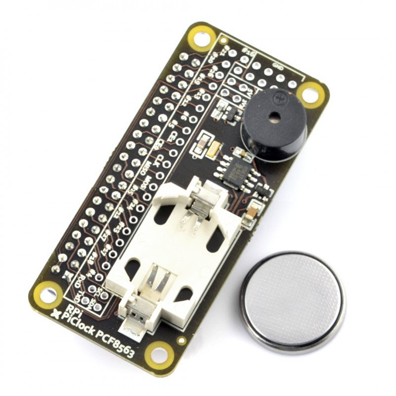 Pi Clock PCF8563 - real time RTC + buzzer + battery for Raspberry Pi 3/2/B+
