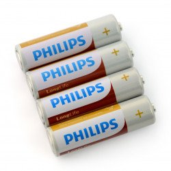 Battery AA (R6) PHILIPS LongLife - 4 pcs.