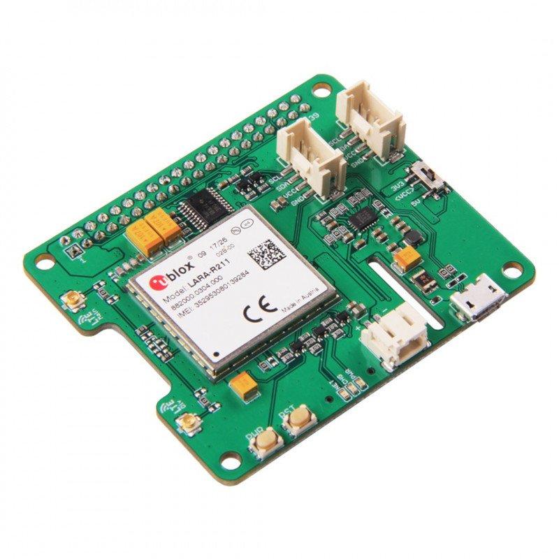 LTE Pi HAT - CAT.1 (LARA-R211(Europe))