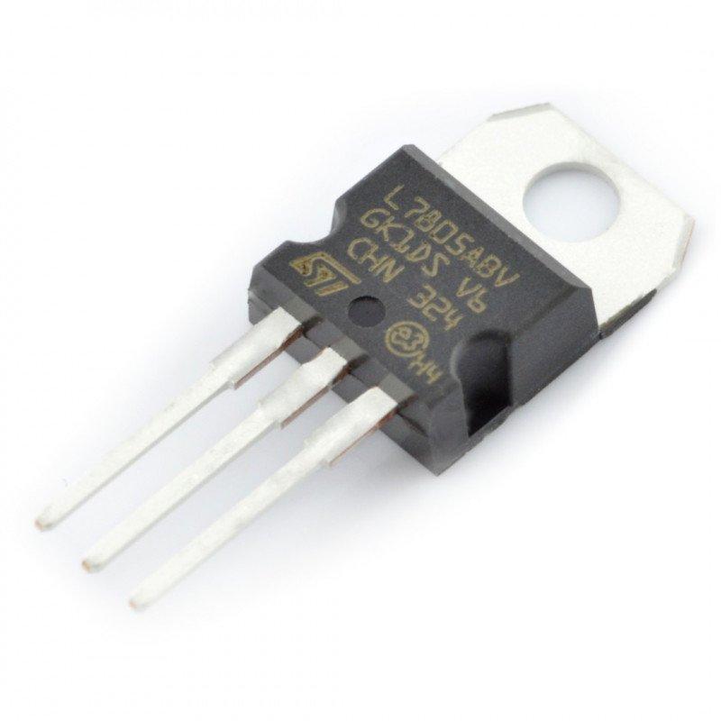 5V stabiliser L7805ABV - THT TO220