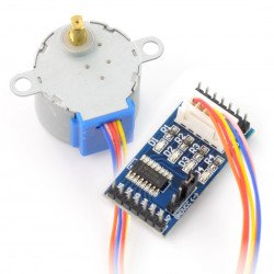 Stepper motor with gear 28BYJ-48 5V/ 0.1A/ 0.03Nm with ULN2003 controller