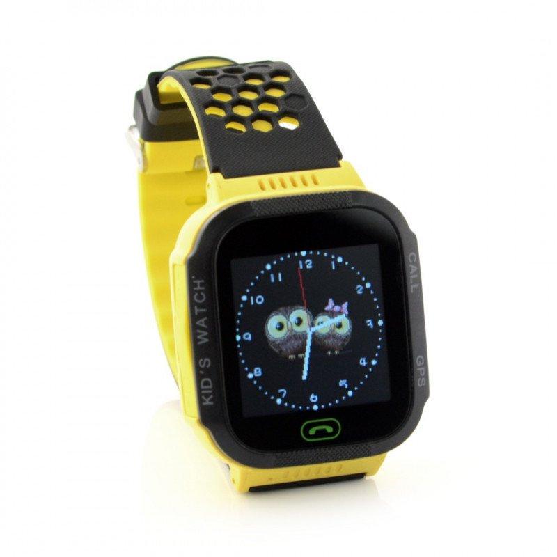Watch Phone Go with GPS locator ART AW-K2 - yellow