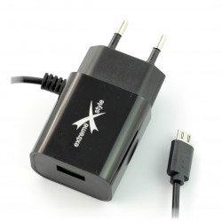 Ampere ATCMU24B microUSB + USB 2.4A power supply - black