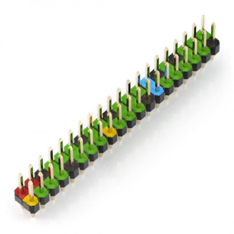 Colour coded 40 pin header