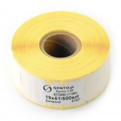 Labels for printer Dymo 19x51mm - 500 pcs/roll - replacement