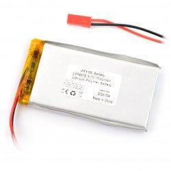 Akyga 1500mAh 1S 3.7V Li-Pol battery - JST-BEC + socket