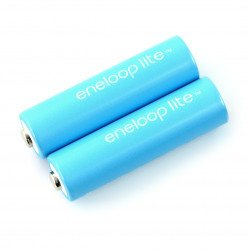 Rechargeable Panasonic Eneloop Lite R6 AA 550mAh - 2 pieces.