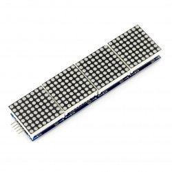 LED matrix 32x8 + MAX7219 driver - red