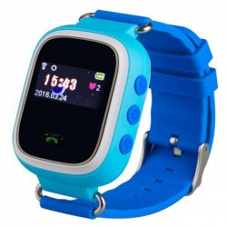 Kids watch with GPS locator - blue