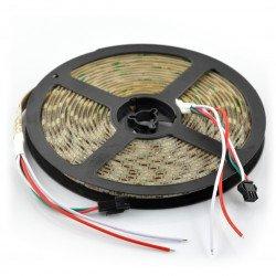 RGB LED Bar WS2811 - digital, addressable - IP65 30 LED/m, 7.2W/m, 12V - 5m