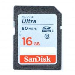 SanDisk Ultra SD / SDHC memory card 16GB 533x UHS-I class 10