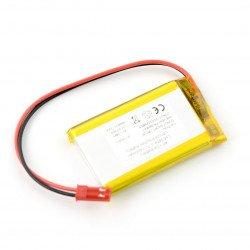 Battery Li-Po 3.7V / 1400mAh, PCM, connector + socket 2.54 JST