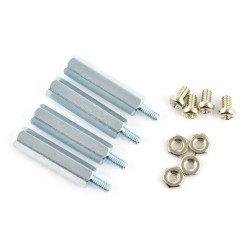 Metal spacers M2,5 20mm + screws + nuts - 4pcs