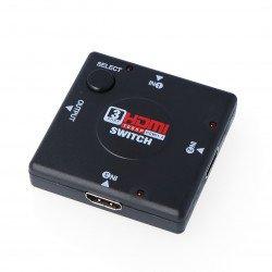Switch HDMI 1.3b 1080p - 3 inputs*