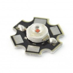 IR Power LED Star 1W - infrared 850nm with heat sink