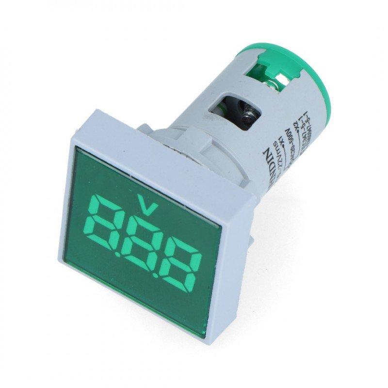 Digital voltmeter 32 x 32 mm LED green