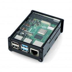 Raspberry Pi Case Model 4B - black and transparent