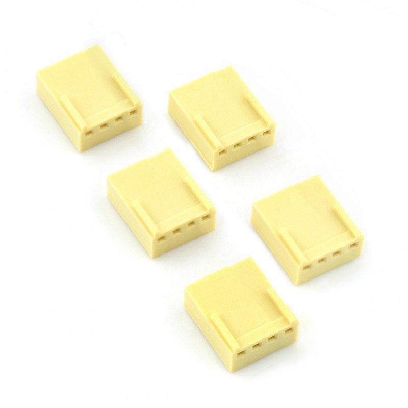 2,54 mm - socket 4-pin - 5 pcs