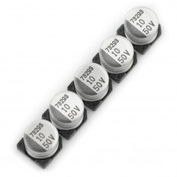 Electrolytic capacitor 10uF/50V SMD - 5 pcs.