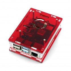 Raspberry Pi Case Model 4B - red - LT-4B16