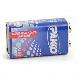 Pakko Super Heavy Duty Duty 6F22 9V battery