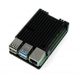 Case for Raspberry Pi 4B - aluminium - black