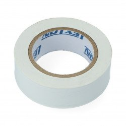 Insulation tape 19 mm x 10 m white