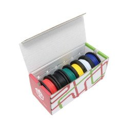 A set of wire wires 22AWG - different colors - 6pcs.