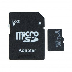 64 GB microSD memory card class 10 with adapter