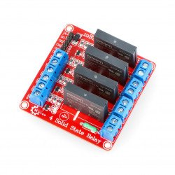 SSR 2A solid state relay module 4 channels - 240VAC / 2A 5VDC coil - Keyes