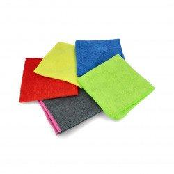 Set of microfibre cloths 30 x 30cm - different colors - 5pcs.